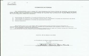 Convocatória Assembleia Geral - Aprovação de Contas